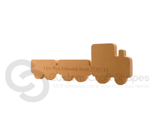 Engraved Train with 2 Carriages (18mm)