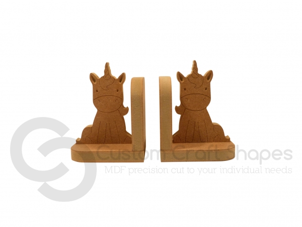 Engraved Unicorn Bookends (18mm)