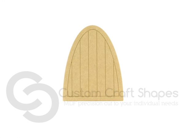 Fairy door with groove and planks (6mm)