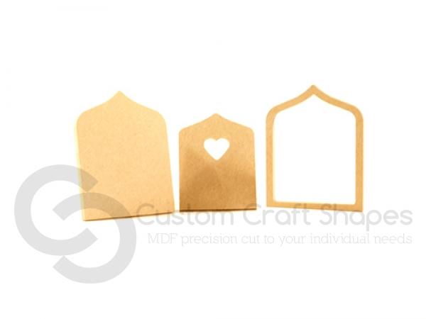 Mdf fairy door with heart 3 pieces 6mm for Fairy door shapes