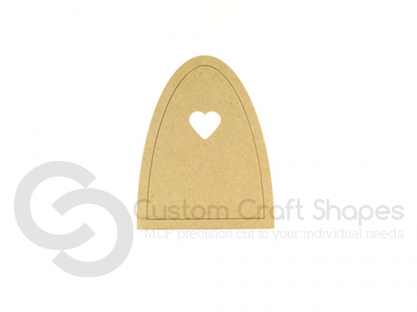 Fairy Door with outer groove and Heart (6mm)