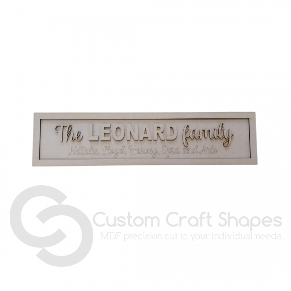 Family Road Sign (3mm)