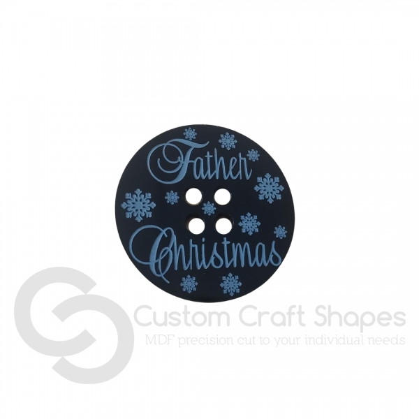 Father Christmas' Lost Button (3mm Acrylic)