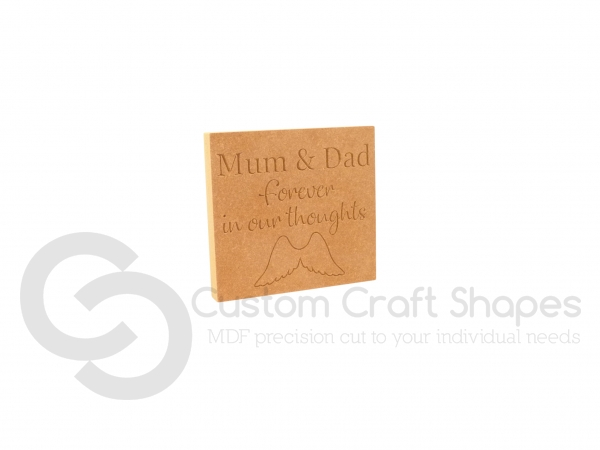 Forever in our thoughts, Personalised Engraved Plaque