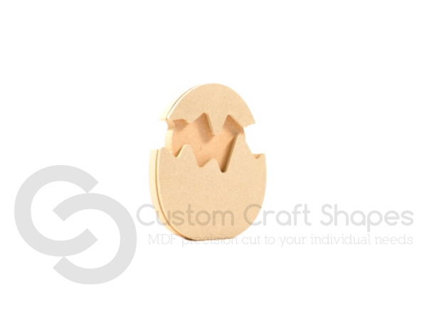 Freestanding 3D Chick in an Egg (18mm +  6mm)
