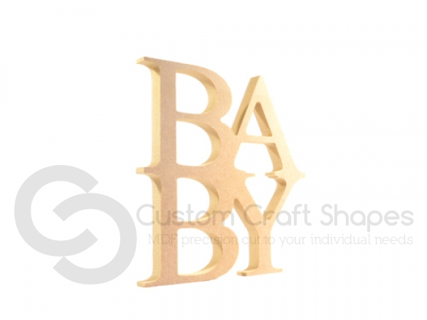 Freestanding BABY Sign (18mm)