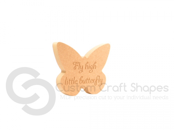 Freestanding Butterfly, engraved 'Fly high little butterfly' (18mm)