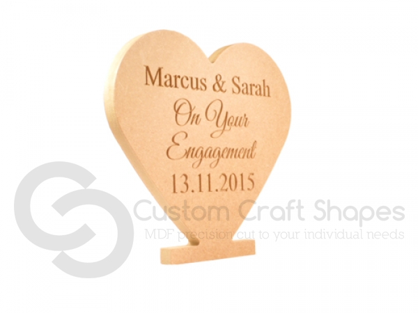 Freestanding Celebratory Engraved  Heart (18mm)