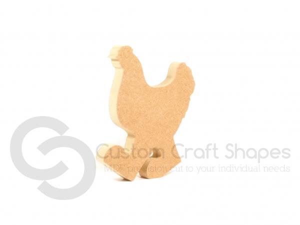Freestanding Chicken in Wellies (18mm)
