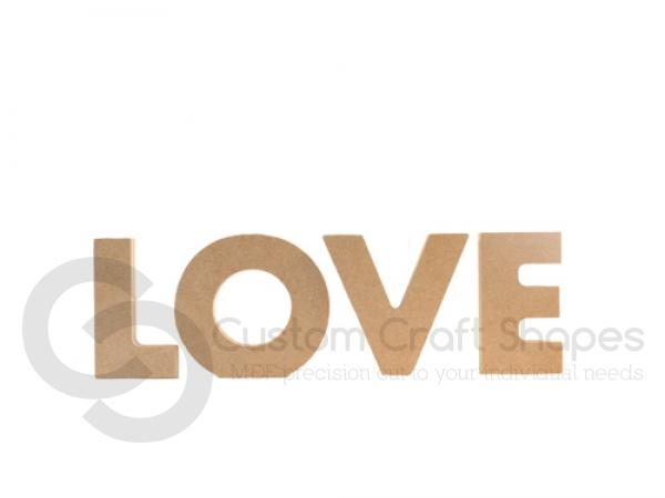 Freestanding Chunky font Love (18mm)