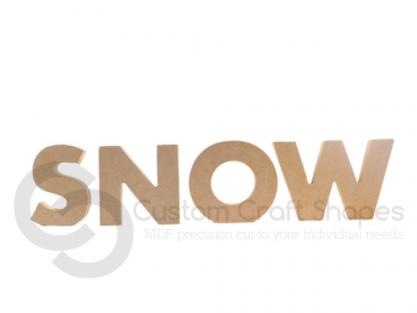 Freestanding Chunky font Snow (18mm)