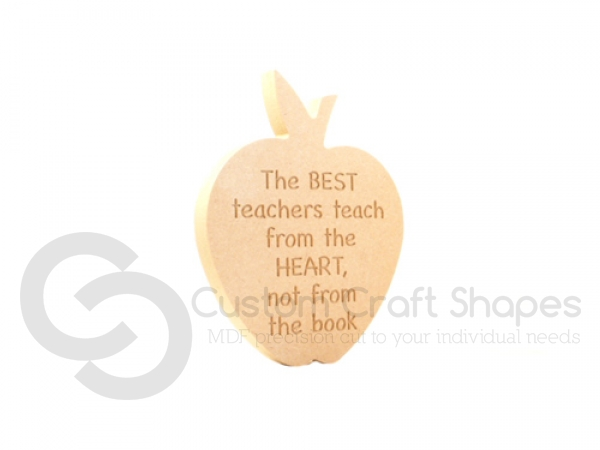 """The best teachers..."" Engraved Apple (18mm)"