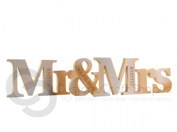 Freestanding, Engraved, Georgian Bold, Mr & Mrs (3 pieces)