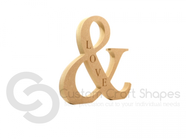 Ampersand Engraved (LOVE) (18mm)