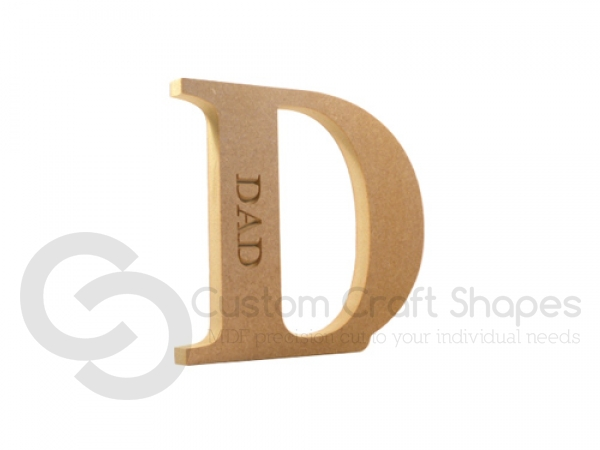 Freestanding, Georgian Bold Letter D, Dad (18mm)