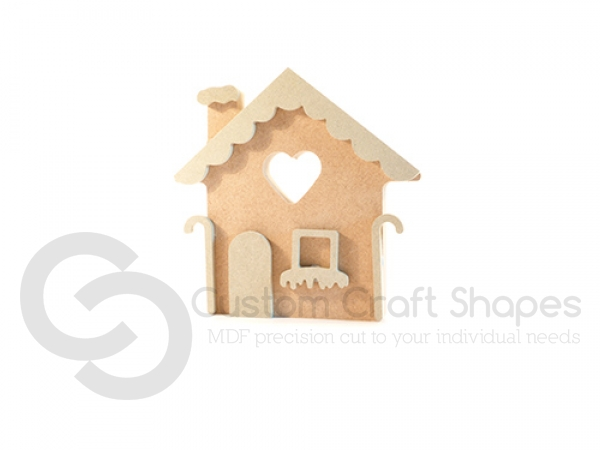 Freestanding Gingerbread House (18mm + 6mm)
