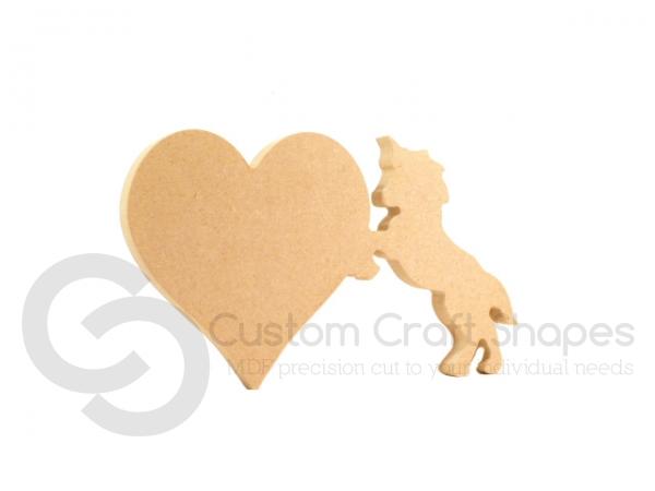 Heart with Unicorn, Freestanding (18mm)