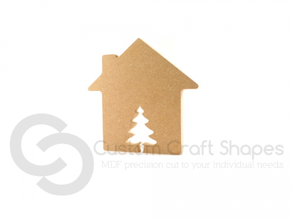 House with Christmas Tree Door (18mm)