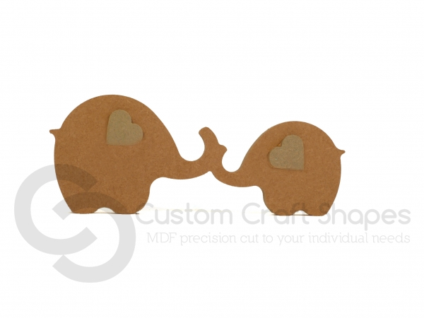 Joined Elephants with 3D Ears (18mm)