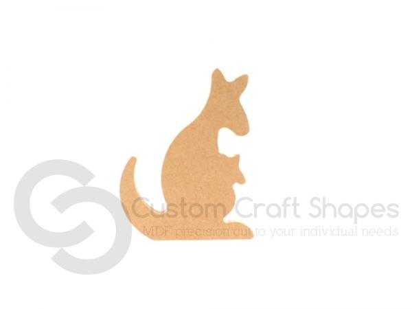Freestanding Kangaroo with Joey (18mm)
