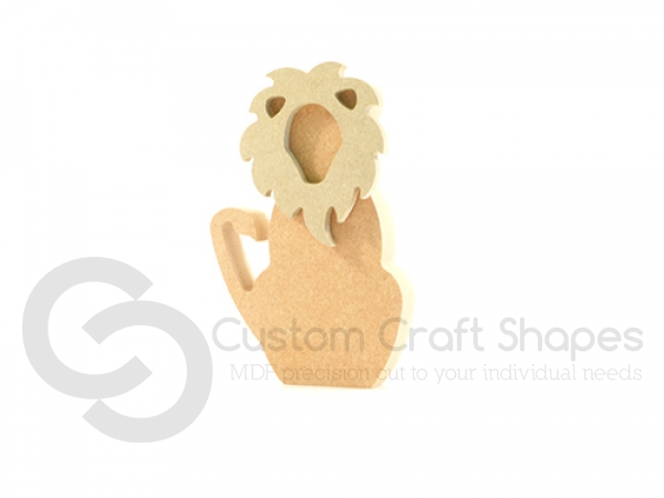 Freestanding Lion with 3D Mane (18mm)