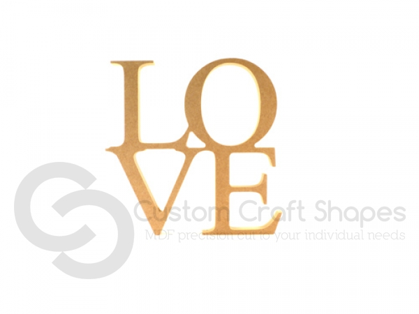 Mdf freestanding love sign 18mm for Love sign