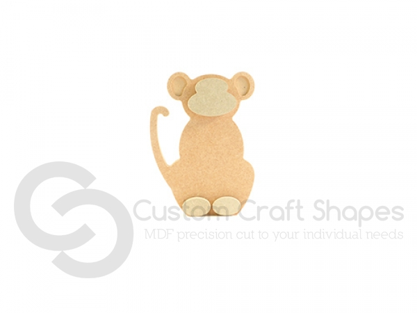 Freestanding Monkey with 3D Features (18mm)