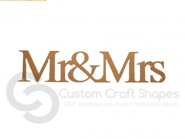 Freestanding Mr&Mrs (1 piece), Times New Roman Font (18mm)