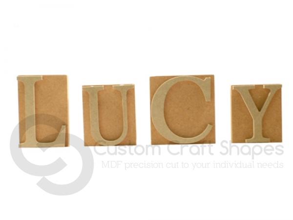 Freestanding Name Blocks (18mm + 6mm)