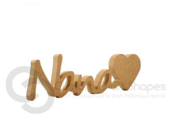 "Freestanding Nana""heart"", Segoe Script Font (18mm)"