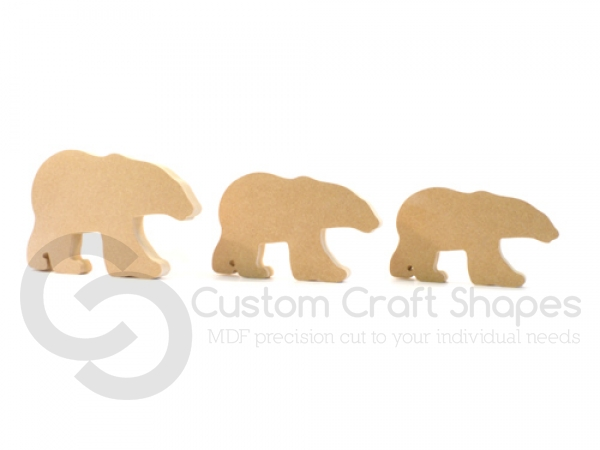 Freestanding Polar Bear (18mm)