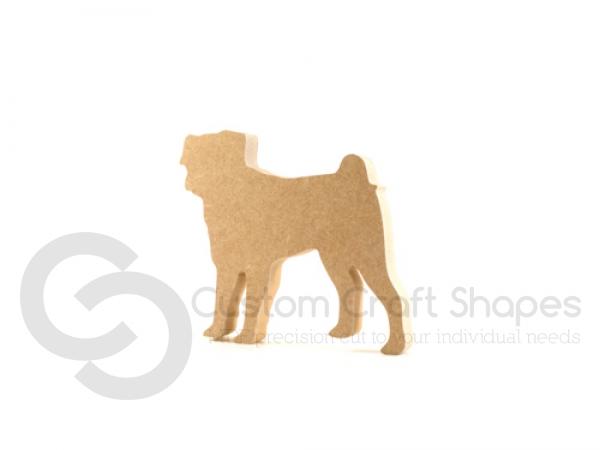 Freestanding Pug Shape (18mm)