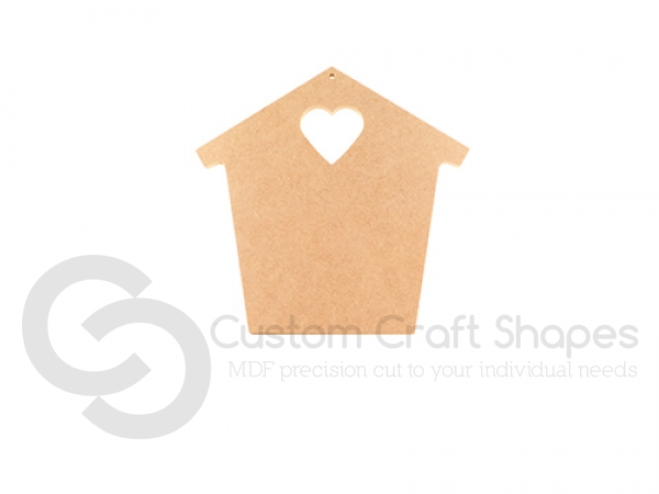 Freestanding Quirky House with Heart (18mm)