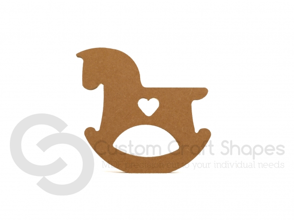 Freestanding Rocking Horse with Heart (18mm)