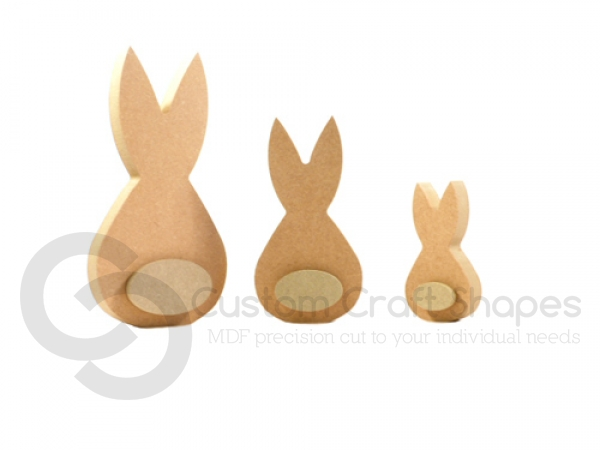 Freestanding Rounded Bunny with 3D piece (18mm)