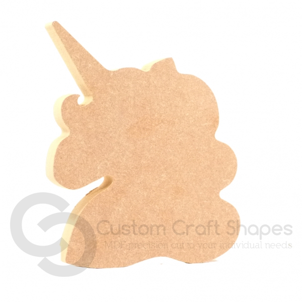 Freestanding Unicorn Head, SHAPE 2, (18mm)
