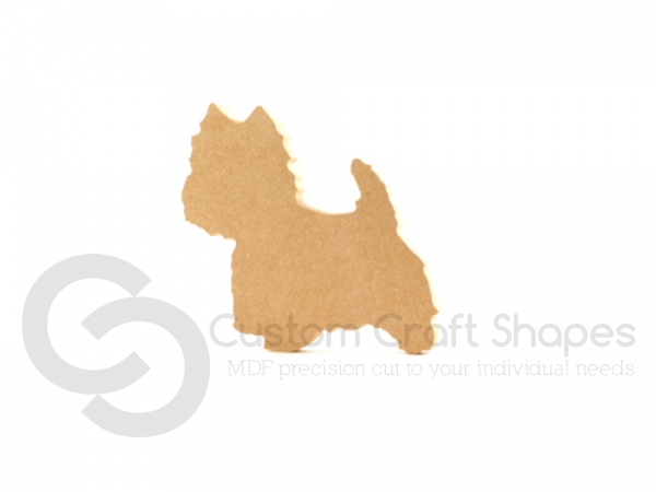 Freestanding Westie Dog (18mm)