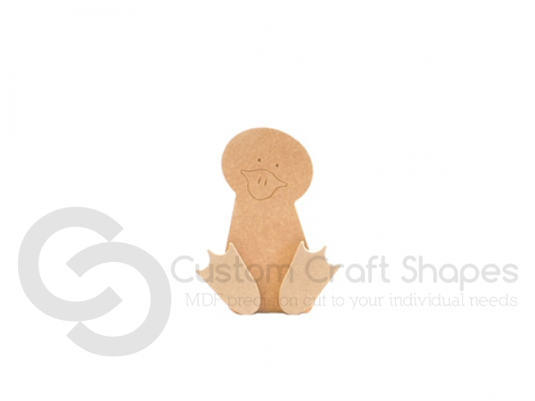 Freestanding Wonky Duck with Engraved Face and 3D Feet (18mm)
