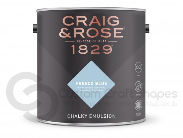 Fresco Blue Chalky Emulsion, Craig & Rose Paint