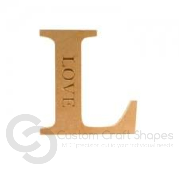Georgian Bold, L, Engraved LOVE