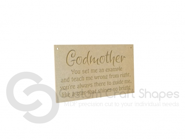 Godmother Engraved Plaque (6mm)
