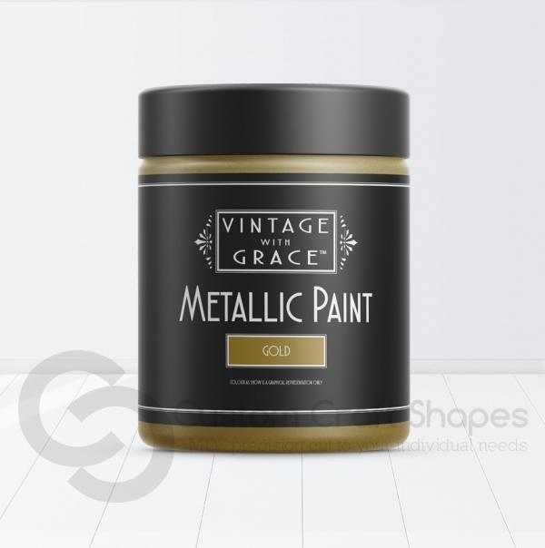 Gold Metallic Paint, Vintage with Grace