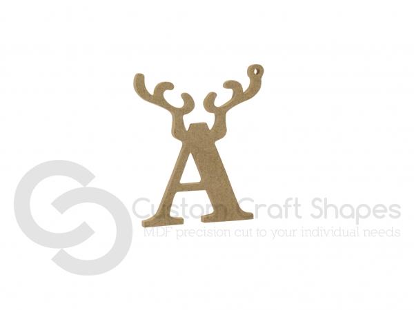 Hanging Antler Letter (6mm)