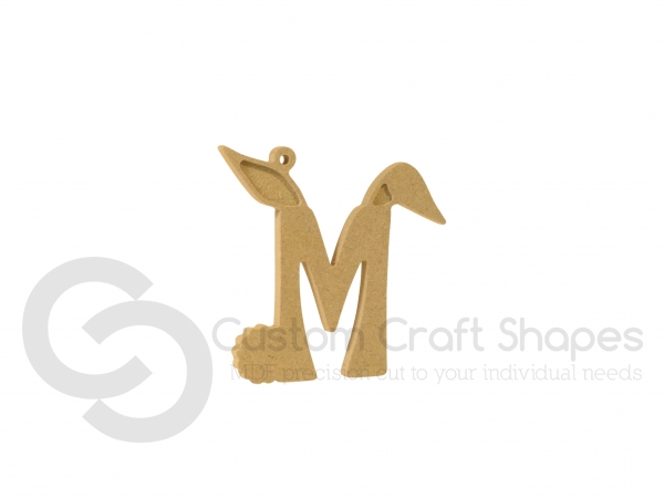Hanging Bunny Ears Letter (6mm)