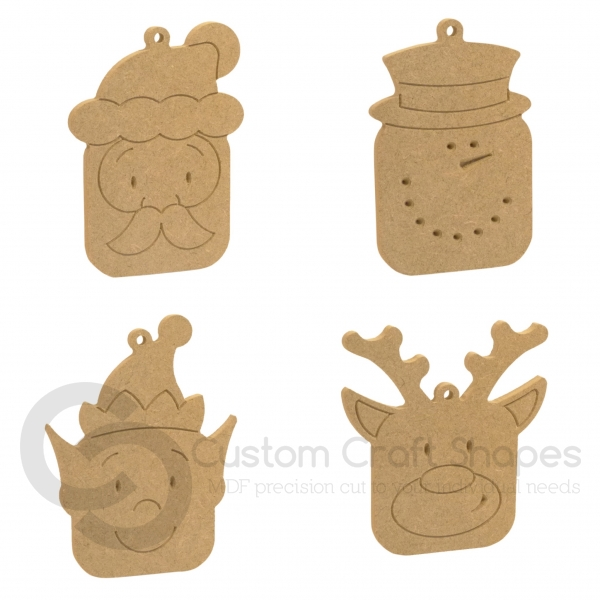 Hanging Christmas Cubies (6mm)