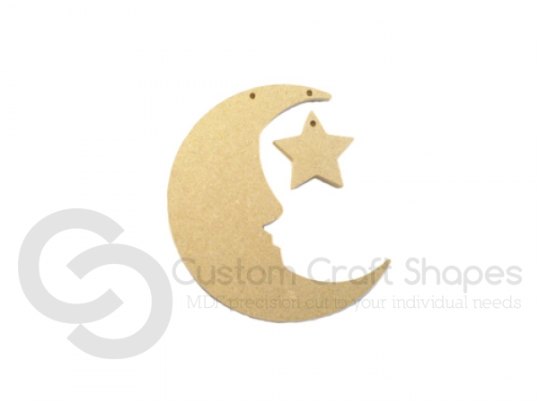 Hanging Moon and Star (6mm)