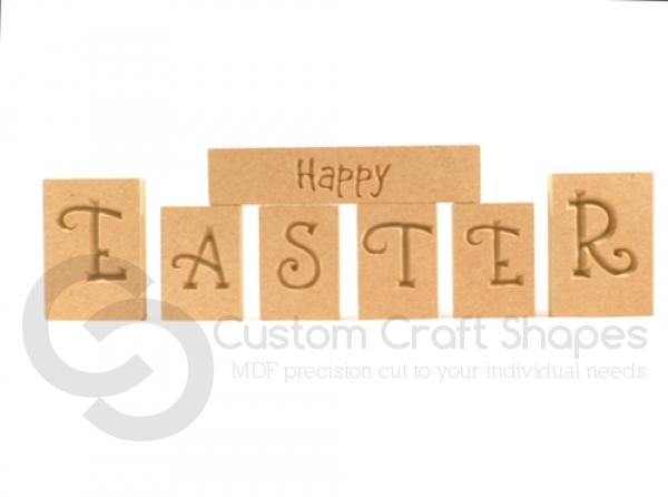 Happy Easter Blocks (18mm)