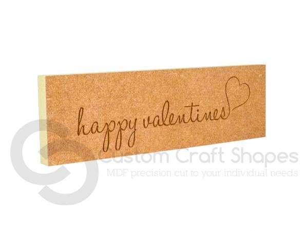 'happy valentines' engraved plaque