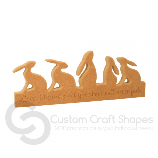 5 Hares on a Plinth (18mm)