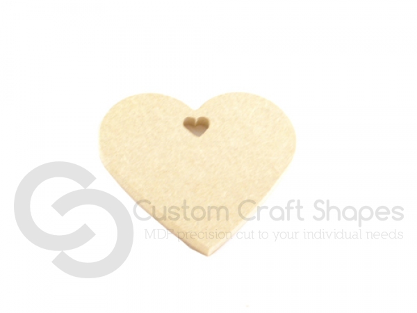 Heart with Heart Shaped Hole (6mm)